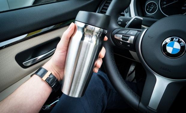 Mini Thermoflasche original Bayrische Motorwerke zur Haptik