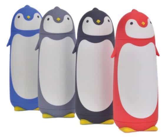 Thermoskanne für Kinder Penguin Design alle Farben stehend