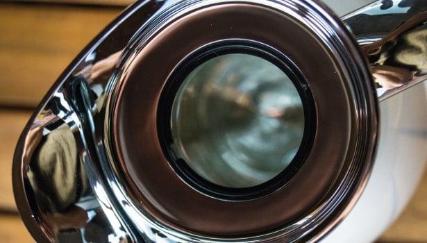 Das Innere der Kanne: Glaskolben.