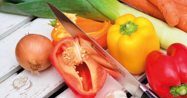 Gemüse für die Maschine.