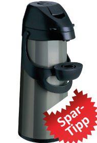 Pump-Isolierkanne von Emsa, Modell Pronto.